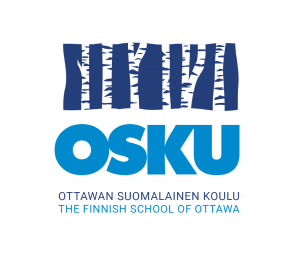 Osku logo with birch trees